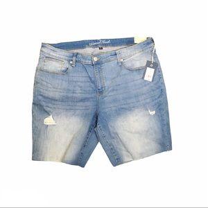 Womens Plus Size Mid-Rise Bermuda Jean Shorts NWT